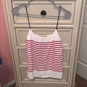 Red white and blue banana republic tank top
